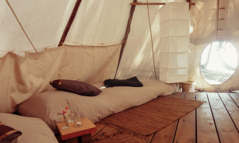 A tipi's inside view